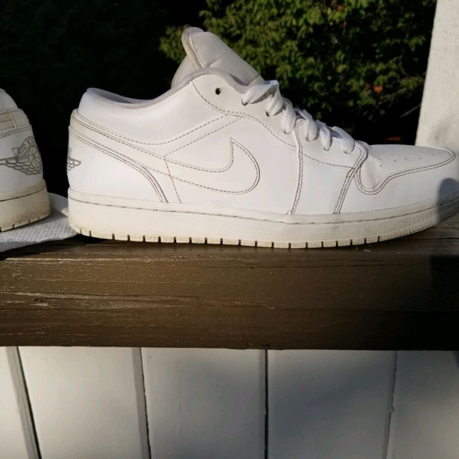 FIRM Jordan 10.5 shoes white low Air force 1 nike