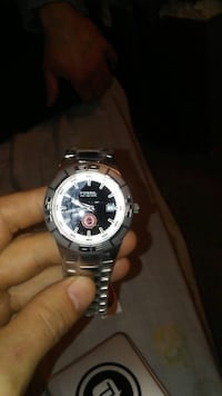 Silver fossil classic sports men's watch