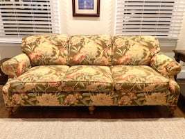 Brown Floral 3 Seat Sofa- Negotiable Price