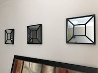 Three black framed mirror wall decorations Fairfax, 22033