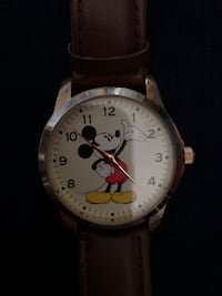 Mickey Mouse watch with brown leather bands 30 km
