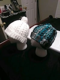 two white and black braided bobble caps Somerset, 42501