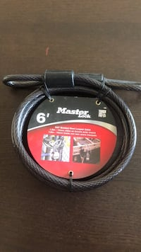 Master lock cable. Mississauga, L4X 1V6