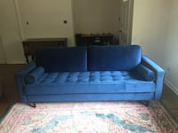 like-new sapphire (Cascadia) blue velvet sofa Clarkston, 30021