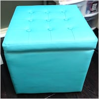 Teal Storage Box/Ottoman - In Great Condition 540 km