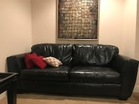 Leather Couch, Chair and 2 Tables