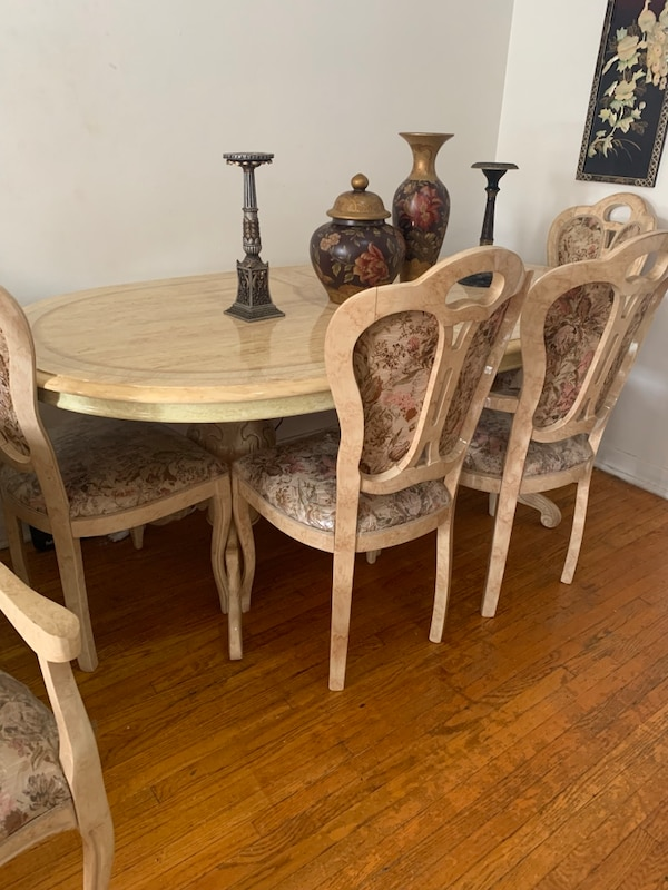 Authentic Marble Dining Room Set Good Condition