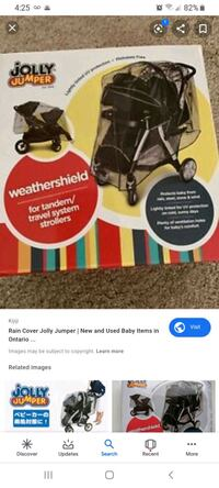 weathershield tandem or travel system stroller  Calgary, T2G