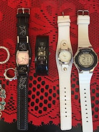 Cosmetic Jewelry magnetic necklace and bracelet still very good quality jewelry take all 4 watches for 30 Fort Erie, L0S