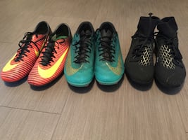 Used soccer cleats