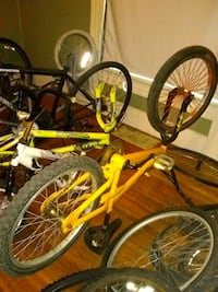 two red and yellow BMX bikes Indianapolis, 46201