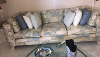 white and blue floral fabric sofa 390 mi