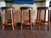 3 good condition bar stools Haslet, 76052