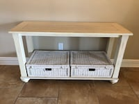 Distressed console 18X50X28 Laval, H7X