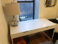 white and brown wooden desk 218 mi