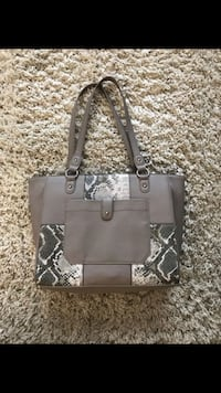 black and gray leather tote bag Arcade, 95825