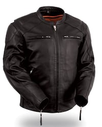 Black leather zip-up jacket Large San Diego, 92136