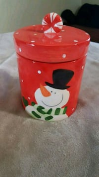 red and white ceramic cookie jar St. Catharines, L2R 6B7