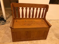 Solid wooden bench with storage