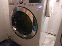 gray LG front-load clothes washer and dryer Fontana, 92337