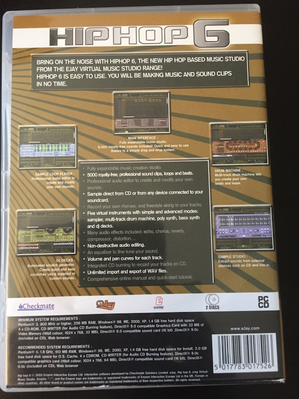 Hip Hop Ejay Music Creation Software CD
