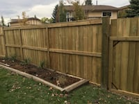 We can build your fence before it's too late!  Calgary