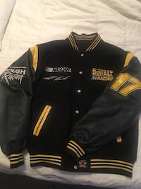 Reversible Dewalt letterman style jacket. Needs a cleaning. Don't see a size but I'd guess it's about an xl. Negotiable, fair offers only. Have not been able to find one like this when searching.  Albuquerque, 87121
