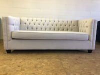 LIGHT GREY-BRAND NEW CANADIAN MADE MODERN TUFTED SOFA Toronto