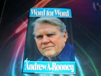 Word For Word by Andrew A. Rooney (1986, Hardcover Richmond Hill