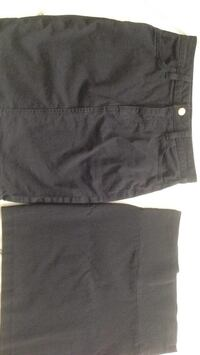 Two black skirts one jean and one spandex blk spandex size small