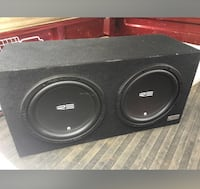 "2 12"" subs these speakers bump loud as hell. 300 obo Woodbridge, 22191"