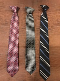 Youth Boys clip on ties kids child children's 3 Richboro