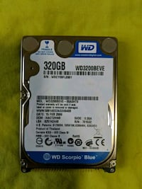 Western Digital 320gb 2.5 HDD Brampton, L6X 1G5