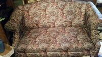 brown and white floral fabric sofa chair Winner, 57580