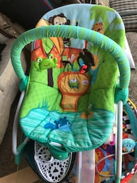 baby's green and blue bouncer Sydney