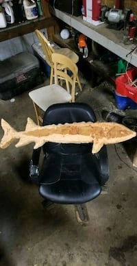 Chainsaw carved sturgeon
