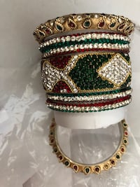 Metel armband with cristel stons Stockholm, 127 34