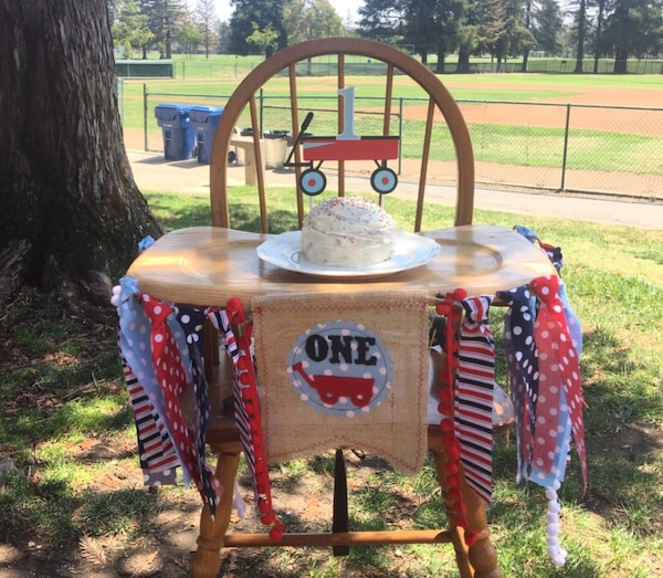 Used High Chair Birthday Decor For Sale In San Jose