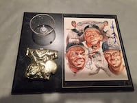 Willie mays mickey mantle duke snider signed plaque!!! Concord, 19342