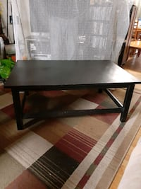 Large solid wood black coffee table $45 or B.O. Odenton, 21113