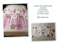 Bedding sets for sale Double and Queen size bedding sets No make no stain Markham