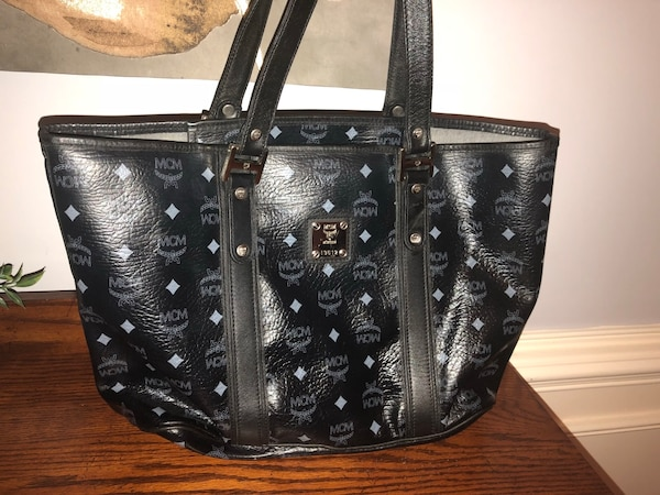 14f1fde5717c Used MCM SHOPPER TOTE BAG BLACK for sale in Loganville - letgo