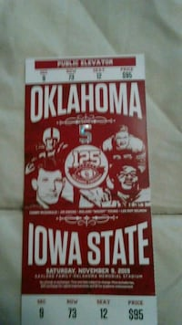 Iowa State verse OU 2 tickets Norman