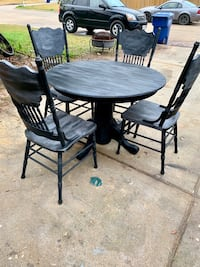 """42"""" round farm style table with 4 chairs Magnolia, 77354"""