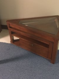 Used Triangle Coffee Table That Extends For Sale In Canton