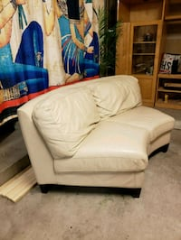 white leather padded sofa chair Lakeside, 92040