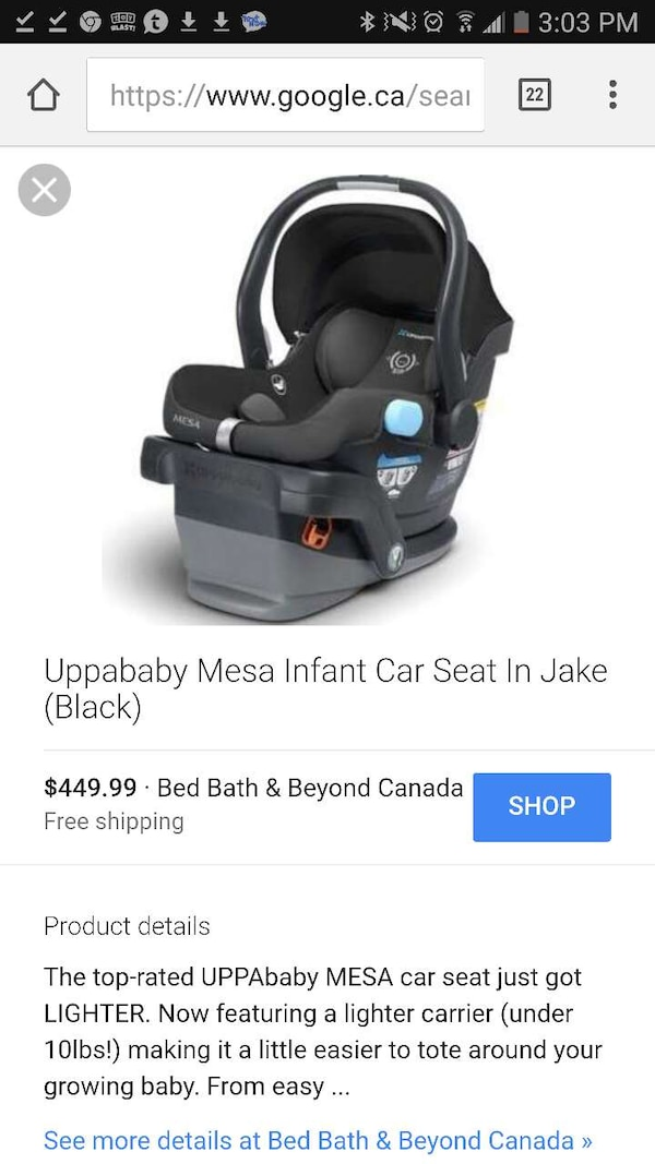 Peachy Used Black Uppababy Mesa Infant Car Seat In Jake For Sale In Download Free Architecture Designs Scobabritishbridgeorg