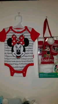 Newborn christmas outfit with hat & bootie set San Antonio, 78227