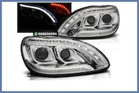 FAROS LED MERCEDES CLASE S W220 CROMO MADRID