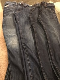 (4) PAIRS OF AMERICAN EAGLE JEANS MENS 28x28